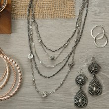 Mixed Metals Multi-Row Necklace 2726