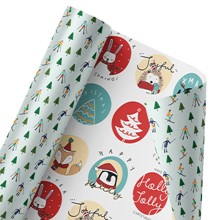 Holly Jolly Friends Reversible Wrap 1414