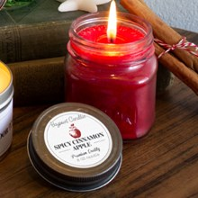 Spicy Cinnamon Apple Mason Jar Candle 9416