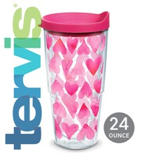 Pink Hearts All Over Tervis® Tumbler 6111