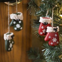 Mitten Ornaments - Set of 3 3336
