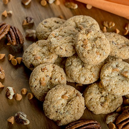 Butterscotch Pecan Mini Pre-Baked Cookies 4456