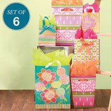 Spring Has Sprung Gift Bags S/6 1639