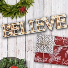 Believe LED Light-Up Sign 3324