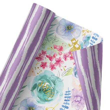 Floral Fancy Reversible Wrap 1502