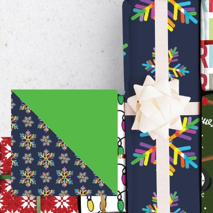 Neon Snowflake Reversible Wrap 1744