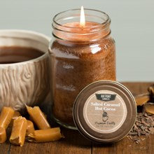 Salted Caramel Hot Cocoa Mason Jar Candle 9379