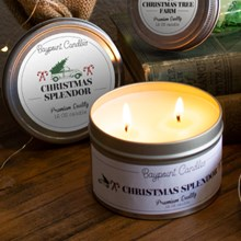 Christmas Splendor Soy Candle Tin 9392