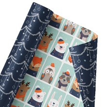 Winter Woodland Creatures Reversible Wrap 1369