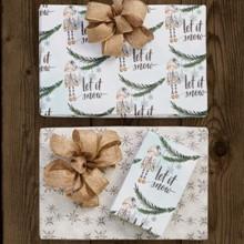 Gnome & Snowflakes Reversible Wrap 1689