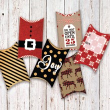 Holiday Pillow Boxes S/12 1837