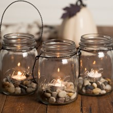 Mason Jar Tealight Candle Holder Set 2512
