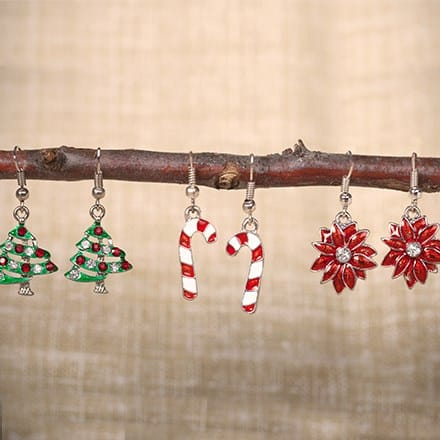 Holiday Earrings - Set of 3 3335