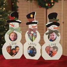 Live-Laugh-Love Snowman Picture Frames 3777