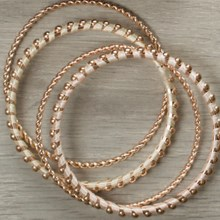 Rose Gold Bangle Bracelets 2704