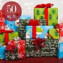 Holiday Flat Wrap 50 sq ft 0271
