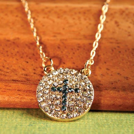 Jeweled Cross Necklace 2902