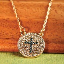 Jeweled Cross Necklace 2902