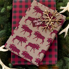Moose & Plaid Reversible Wrap 1612