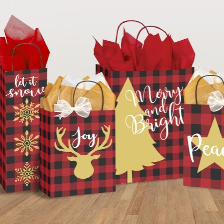 Holiday Gift Bags S/5 1256