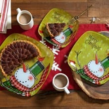 Christmas Plates - Set of 3 3358