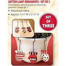 Mitten Lamp Pot Perchers S/3 9187