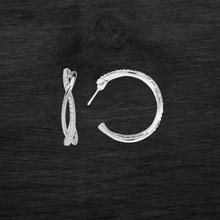 Swarovski Crystal Spiral Semi Hoop Earrings 2815