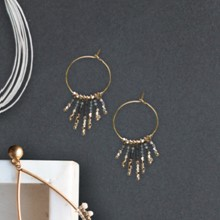 Fringe Hoop Earrings 2645