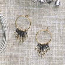 Fringe Hoop Earrings 2645