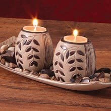Rustic Tea-light Candle Holders 2300