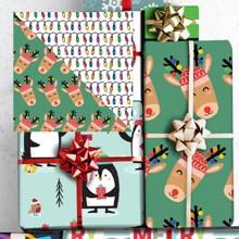 Reindeer Reversible Wrap 1733