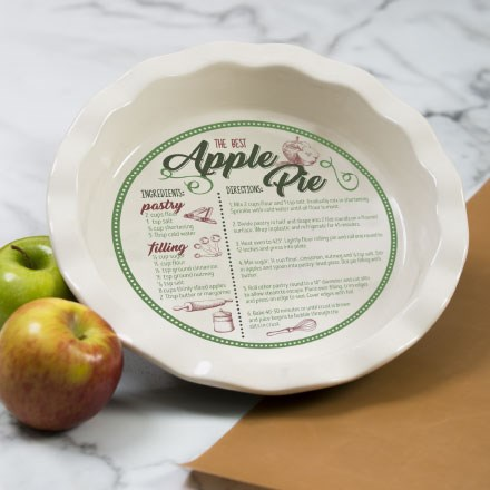 Ceramic Recipe Pie Plate 7362