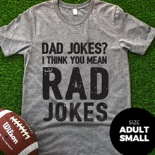 Dad Jokes T-Shirt - Adult Small 3023