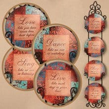 Live, Love, Sing & Dance Plate Set 3621