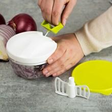 Mini Manual 5-Piece Food Processor 7424