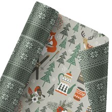 Holiday Chalet Reversible Wrap 1324