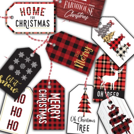 Holiday Gift Tags S/60 1826