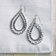 Double Tear Drop Earrings 2601