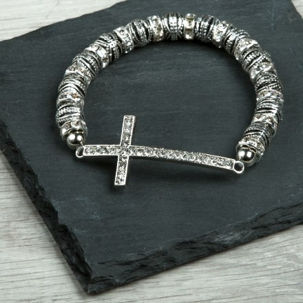 Sideways Cross Stretch Bracelet 2770