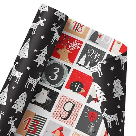 Christmas Countdown Reversible Wrap 1469