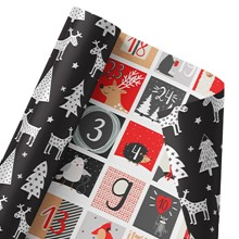 Christmas Countdown Reversible Wrap 1469