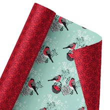 Holiday Love Birds Reversible Wrap 1435