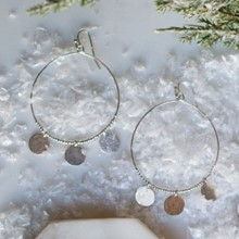 Coin Hoop Earrings 2683