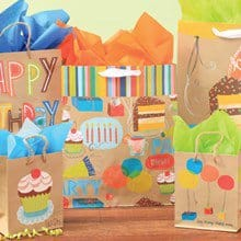 Kraft Party Gift Bags S/6 1625