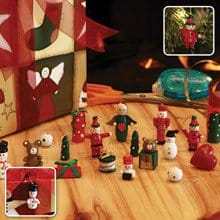 18 pc Ornament and Package Tie Set 3843