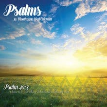 Psalms Wall Calendar 4023