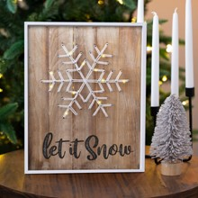 Let It Snow LED Sign 3102