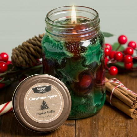 Christmas Spice Mason Jar Candle 9368