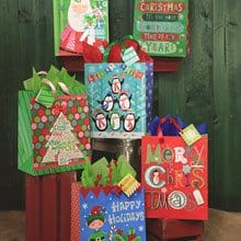 Whimsical Holiday Bag Set - Set of 6 1334B