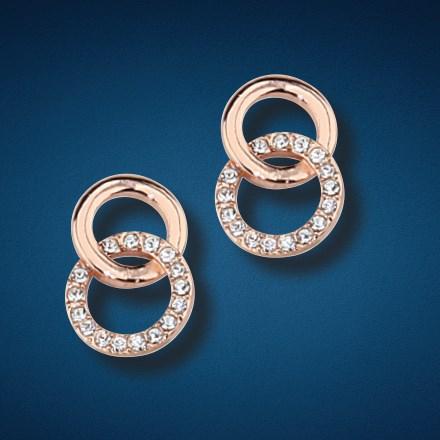 Two Tone Double Circle Earrings 5906